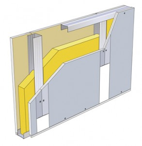 Reinforced acoustic gypsum plasterboard